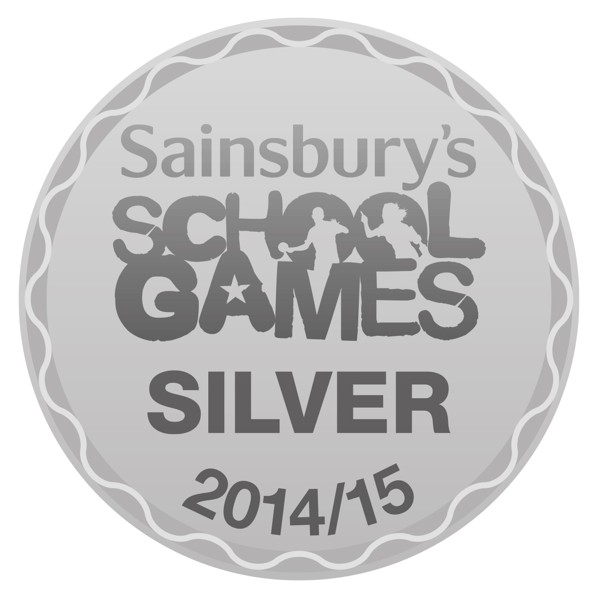 Sainsburys School Games Silver 2014/15